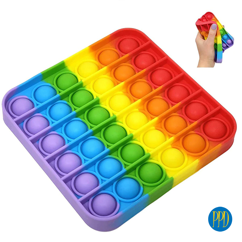 POP IT! Rainbow silicone fidget toy promotional product direct
